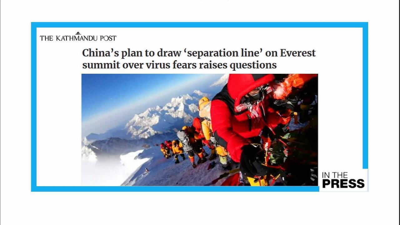 RVP NEPAL CHINA MOUNT EVEREST