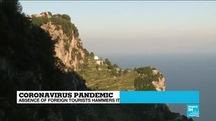 2020-07-13 13:05 Absence of tourists hammers Italy's Amalfi coast