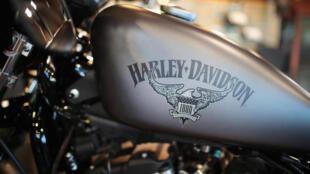 Une moto Harley-Davidson vendue à Kenosha dans le Wisconsin aux États-Unis, le 1er juin 2018.