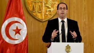 Le Premier ministre tunisien Youssef Chahed a formé son nouveau gouvernement, le 20 août 2016.