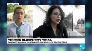 2020-07-02 10:06 Tunisian blogger's trial for blasphemy to open, raises free speech questions