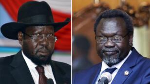 رئيس جنوب السودان سالفا كير وزعيم المتمردين رياك مشار