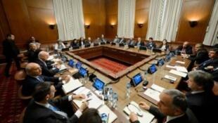 جولة سابقة من مفاوضات جنيف حول الأزمة السورية