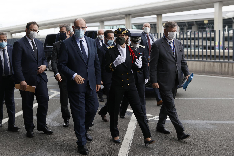 Jean Castex en visite à l'aéroport Roissy-Charles-de-Gaulle, le 24 juillet 2020.
