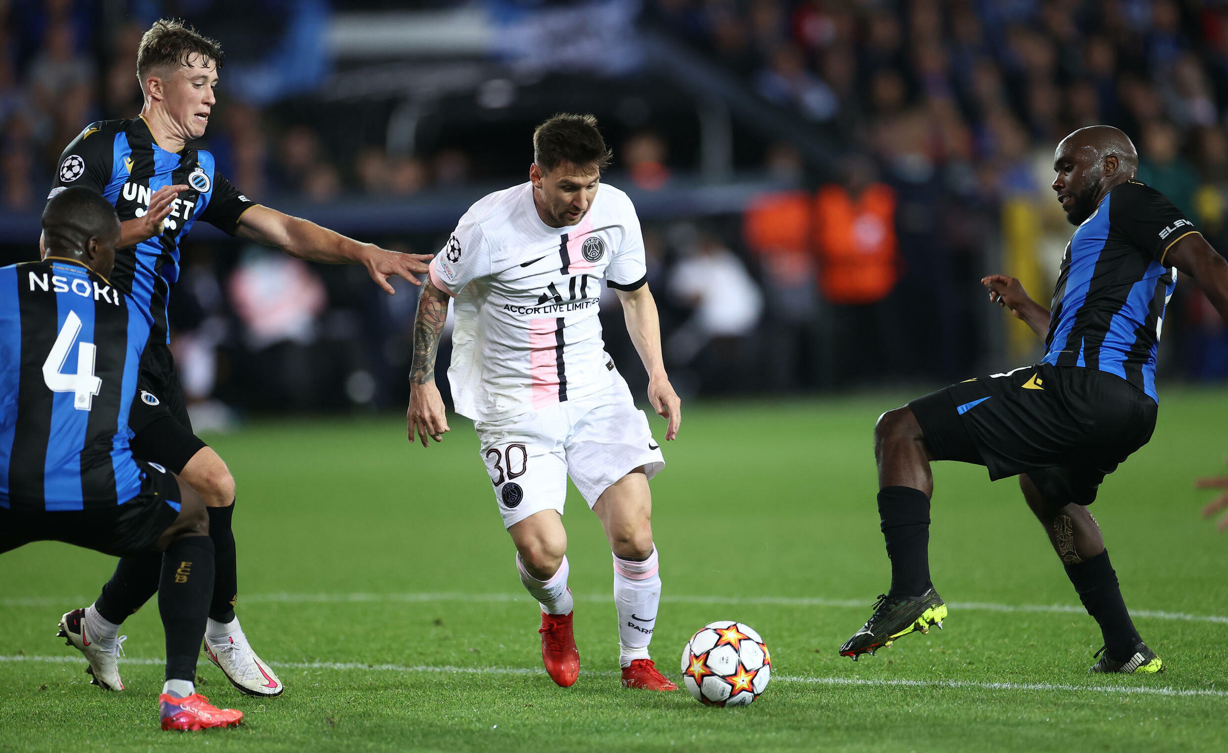 Messi makes first start but PSG held by Club Brugge in Champions League - France 24