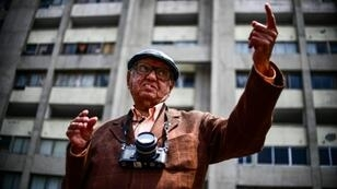 Mexican photojournalist Jesus Fonseca -- shown in the Tlatelolco neighborhood where the 1968 massacre occurred -- says his photographs of the bloodbath never made it into the newspaper he worked for