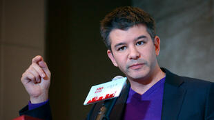 WANG Zhao / AFP | This file photo taken on January 11, 2016 shows Travis Kalanick, CEO of the global ridesharing service Uber, during a press conference in Beijing.