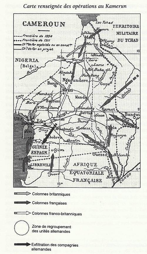 Les opérations militaires au Cameroun entre 1914 et 1916