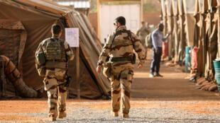 قوة برخان الفرنسية العسكرية المنتشرة في مالي.