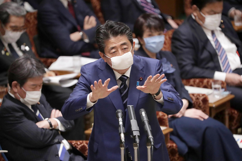 Shinzo Abe, le 1er avril 2020.
