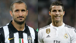 Juventus defender Giorgio Chiellini (left) will need to be at his best to keep Madrid's Cristiano Ronaldo (right) in check