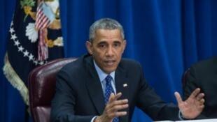 باراك أوباما في واشنطن، في 6 أكتوبر 2015.