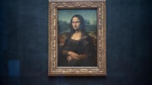 'La Gioconda' o 'La Mona Lisa' es la obra icónica de Leonardo da Vinci en el Museo del Louvre de París, el 8 de enero de 2021