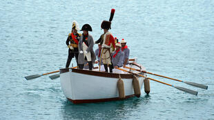 Napoleon's departure marks the end of 10 months of festivities on the Tuscan island of Elba