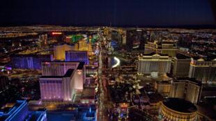 Vue aérienne du Strip, en 2010.