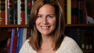 File photo: US Court of Appeals for the Seventh Circuit Judge Amy Coney Barrett, a law professor at Notre Dame  University, poses in an undated photograph obtained from Notre Dame University September 19, 2020.
