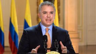 El presidente de Colombia, Iván Duque, decreta el estado de emergencia en una alocución este martes 17 de marzo de 2020.