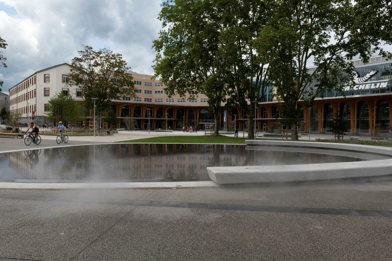 Die Michelin-Zentrale wurde am 9. September 2021 in Clermont-Ferrand . renoviert