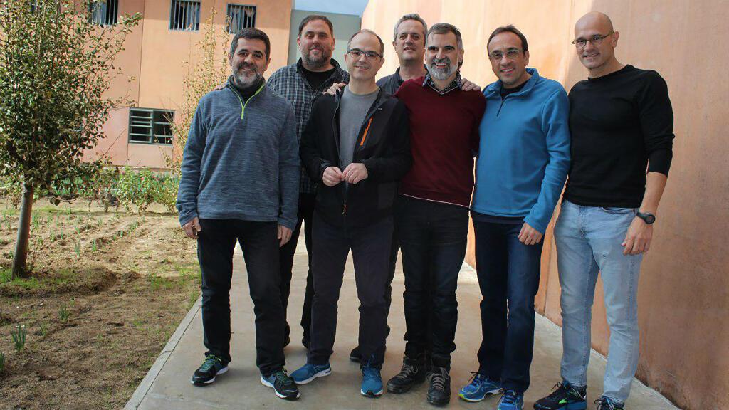 Los principales líderes independentistas presos en l cárcel catalana de Lledoners