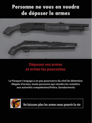 Campagne médiatique contre la circulation des armes