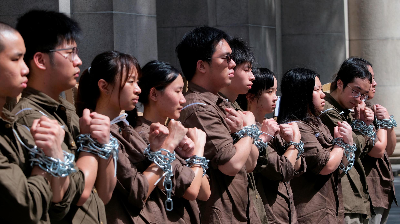 Protesta de estudiantes hongkoneses. 8 de junio de 2019.