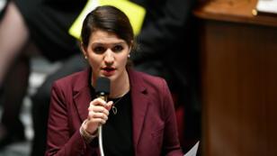 La secrétaire d'État à l'Égalité entre les femmes et les hommes, Marlène Schiappa, le 12 décembre 2017, à l'Assemblée nationale.