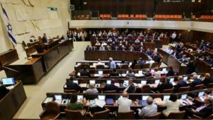 Le Parlement israélien lors du vote du projet de loi controversé, le 19 juillet 2018.