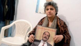Besma Khalfaoui, veuve de Chokri Belaïd (Archives)