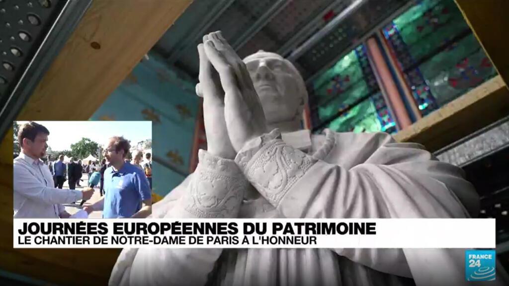 Journées du patrimoine : le chantier de Notre-Dame de Paris mis à l'honneur