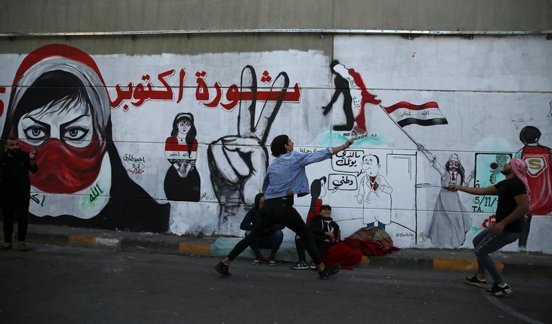 تواصل الاحتجاجات في العراق رغم إقرار مجلس النوب لحزمة من القوانين الإصلاحية. بغداد 19 نوفمبر/ تشرين الثاني 2019.