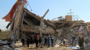 L'hôpital de MSF détruit par des bombardements lundi 15 février.