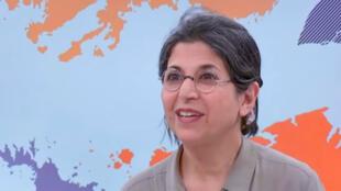La chercheuse franco-iranienne Fariba Adelkhah, sur France 24, en février 2019.