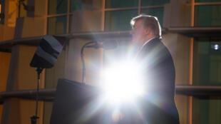 Donald Trump à un meeting Make America Great Again, dans la ville de Tupelo, Mississippi, le 26 novembre 2018.