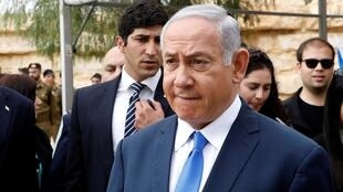Benjamin Netanyahou lors d'une commémoration à Sde Boker, le 14 novembre 2018.