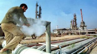 La raffinerie de Biaji en Irak, en décembre 1999