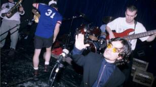 Peter Dinklage et son groupe Whizzy en concert à l'université de Columbia, à New York, le 1er octobre 1994.