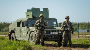Des soldats stationnés dans la base de Redzikowo, dans le nord de la Pologne, le 13 mai 2016.