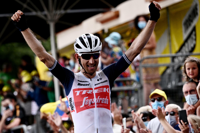 Le Néerlandais Bauke Mollema vainqueur de la 14e étape du Tour de France, entre Carcassonne et Quillan, le 10 juillet 2021