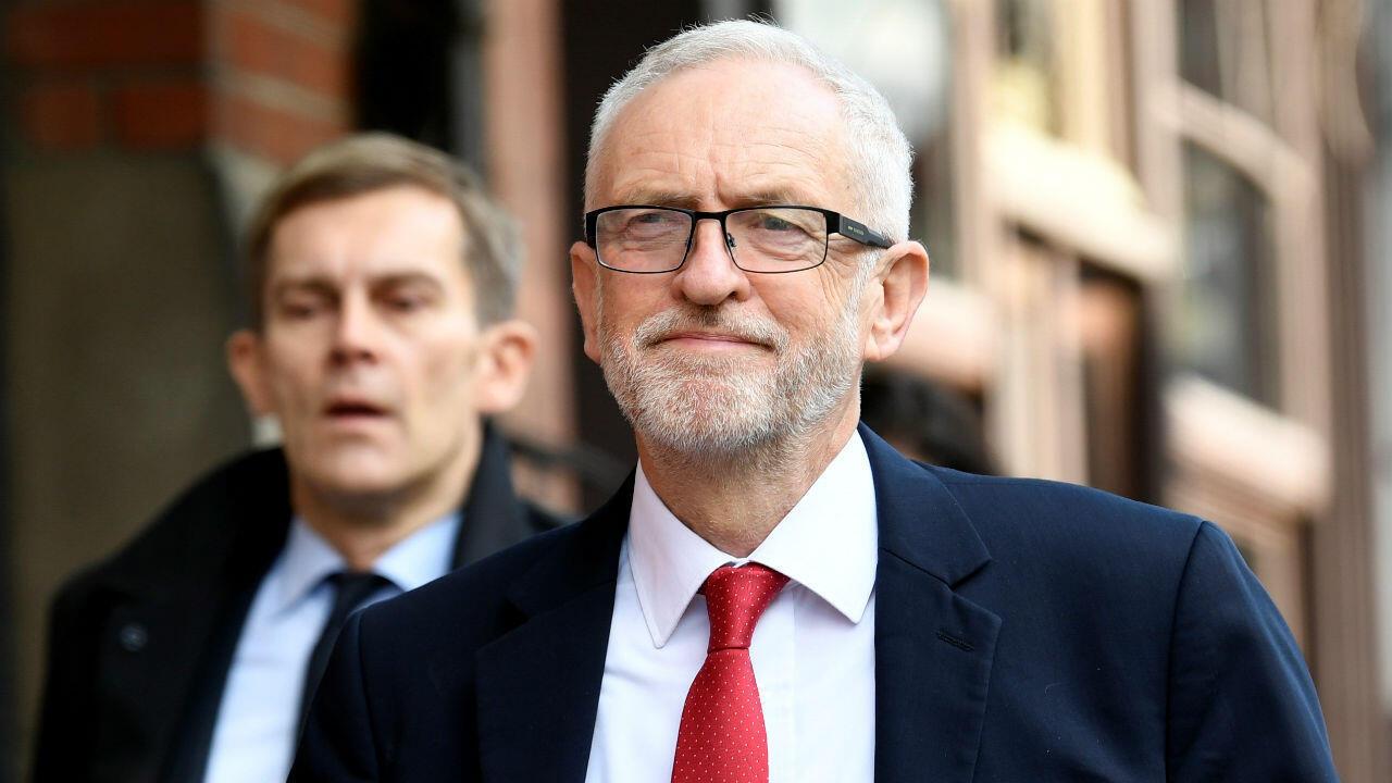 El líder del Partido Laborista, Jeremy Corbyn, antes de una reunión previa al consejo del Partido de los Socialistas Europeos en Albert Hall en Bruselas, Bélgica, el 17 de octubre de 2019.