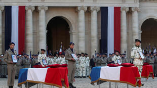 ceremony French soldiers killed in Mali