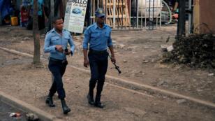 Des policiers patrouillent les rues d'Addis Abeba, le 21février2018 (photo d'illustration).
