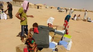 Réfugiés du camp 60 Kilo, dans la province d'Al-Anbar