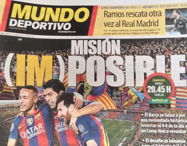 برشلونة بين التفاؤل والتشاؤم قبيل مباراة الإياب أمام باريس سان جرمان