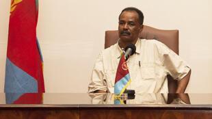 Le président érythréen Issayas Afewerki, le 19 août 2011, lors d'une visite en Ouganda.