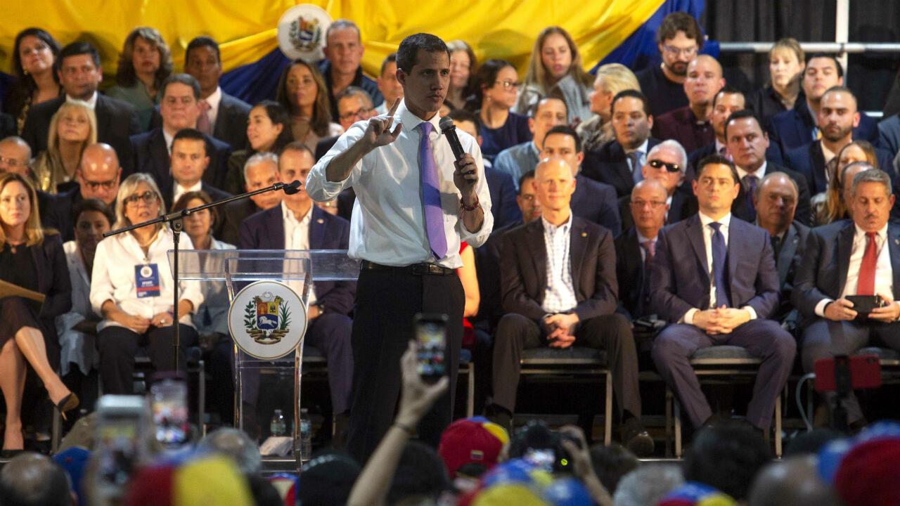Venezuela Juan Guaido Miami US Maduro meeting rally