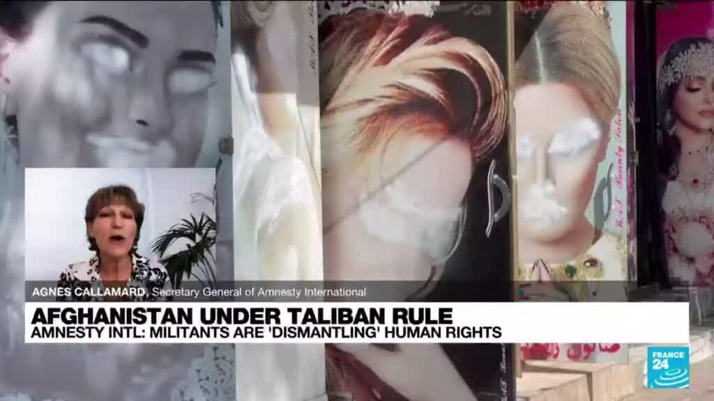 2021-10-12 13:33 Taliban are 'dismantling' human rights in Afghanistan, Amnesty International tells FRANCE 24
