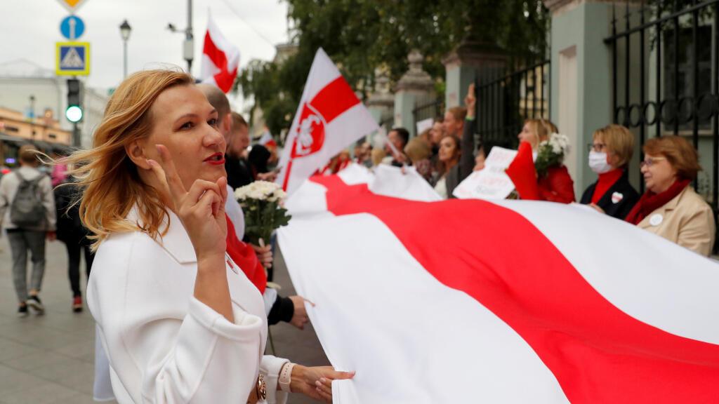 El 13 de septiembre de 2020 hubo una manifestación en frente de la Embajada de Belarús en Moscú, Rusia, para apoyar a las protestas de Minsk en contra del presidente bielorruso Alexander Lukashenko.