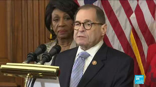 House representatives Maxine Waters and Jerrold Nadler.