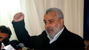 عبد الإله بن كيران الأمين عام لحزب العدالة والتنمية الفائز في الانتخابات
