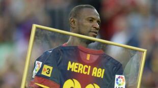 Éric Abidal, joueur emblématique du FC Barcelone jusqu'en 2013.